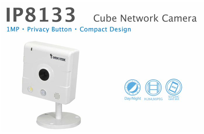 Cámara IP HD cubo Vivotek IP8133 para interiores