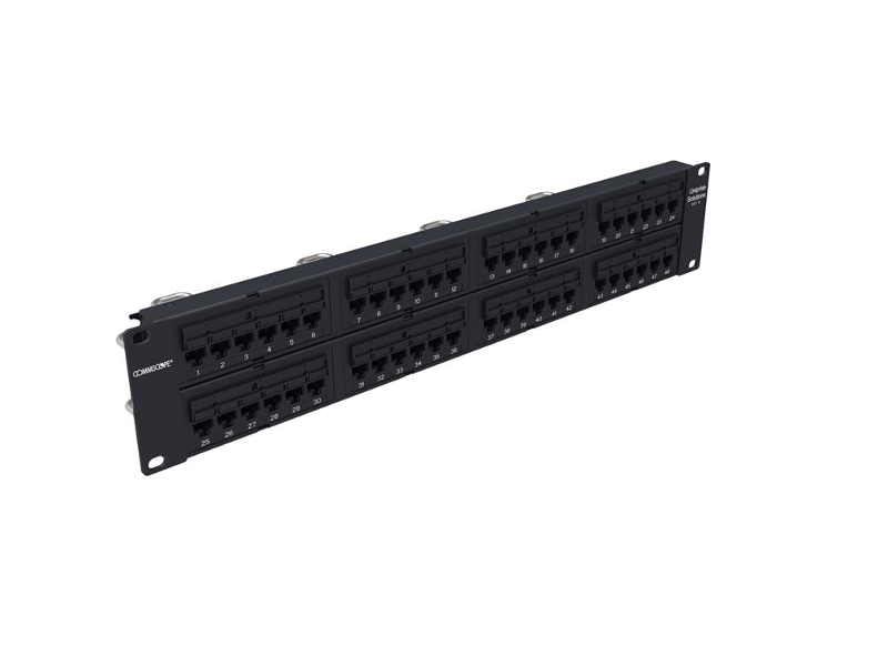 Panel de parcheo Uniprise Universal Cat 6 de 48 puertos
