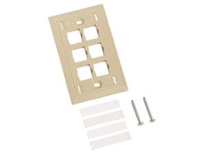 Faceplate Systimax Serie L de 6 salidas [Ivory]