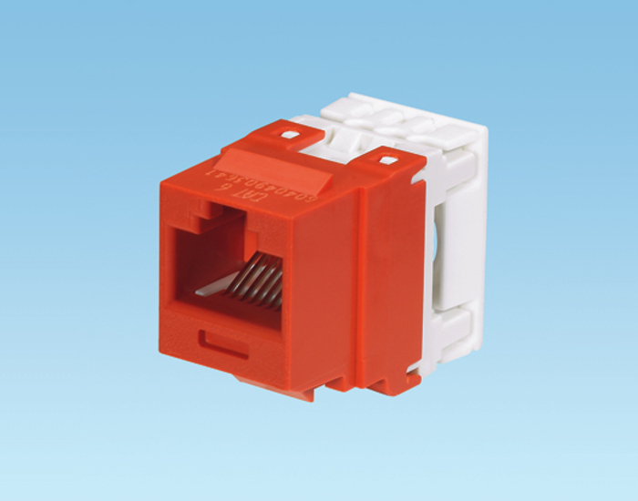 Jack Panduit NetKey Cat 6 [Red]