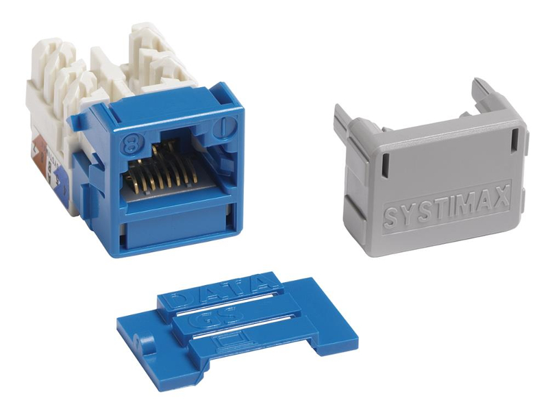 Jacks Systimax GigaSPEED XL MGS400 Series Cat 6 [Blue]