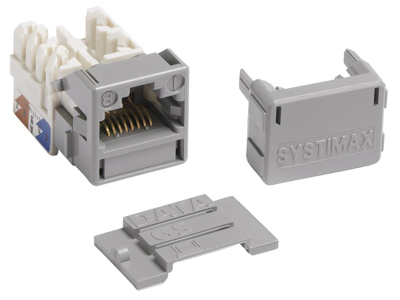 Jacks Systimax GigaSPEED XL MGS400 Series Cat 6 [Gray]
