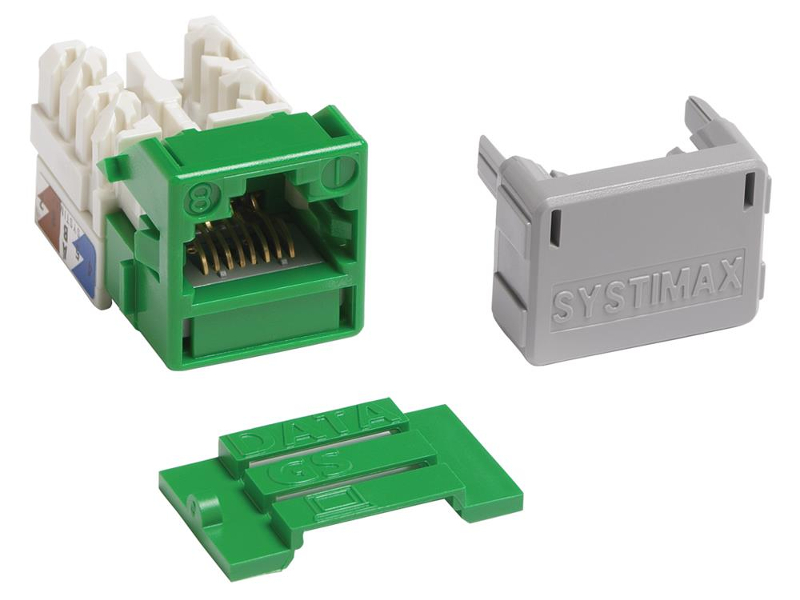 Jacks Systimax GigaSPEED XL MGS400 Series Cat 6 [Green]
