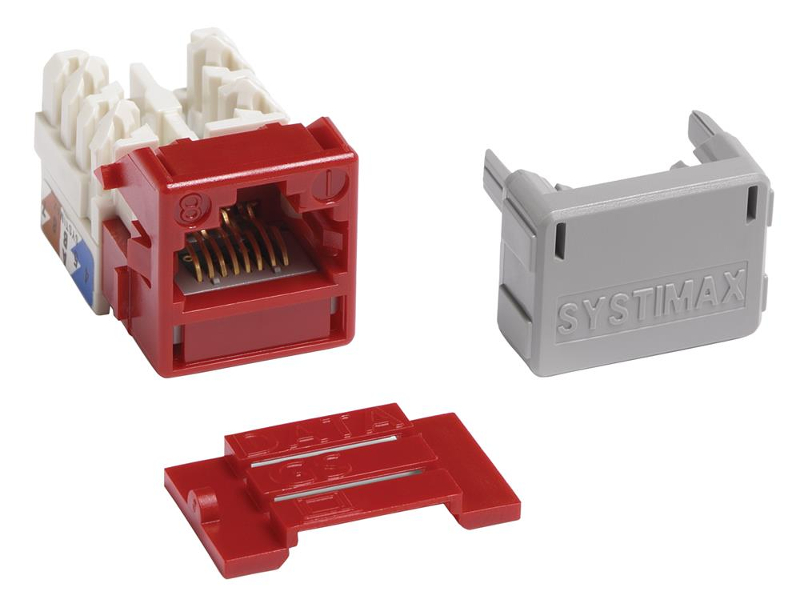 Jacks Systimax GigaSPEED XL MGS400 Series Cat 6 [Red]