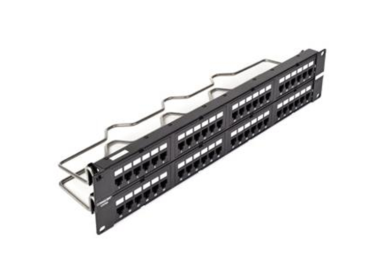 Panel de parcheo Uniprise Cat 6A de 48 puertos