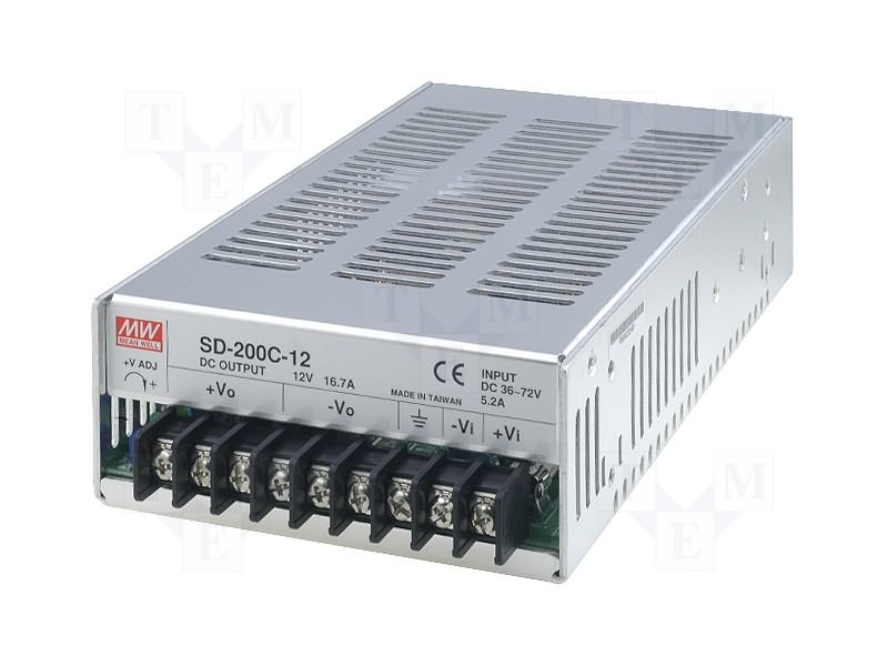 Convertidores industriales Mean Well SD Series (SD-200C-12)