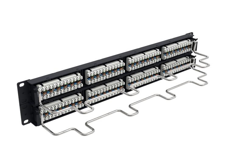 Panel de parcheo Uniprise Universal Cat 5E de 48 puertos